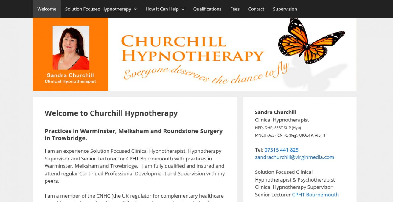 Churchill Hypnotherapy Website