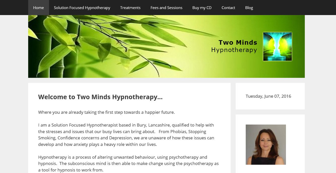 Two Minds Hypnotherapy Website