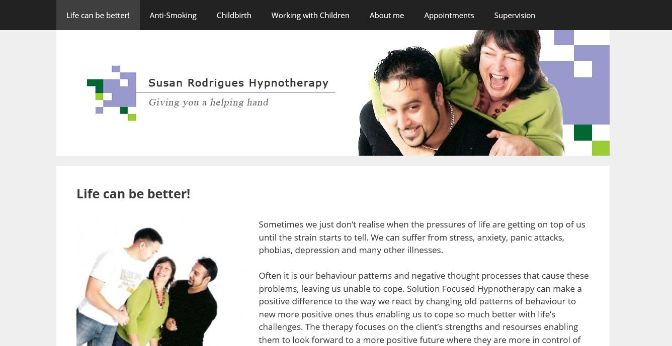 Susan Rodrigues Hypnotherapy Website