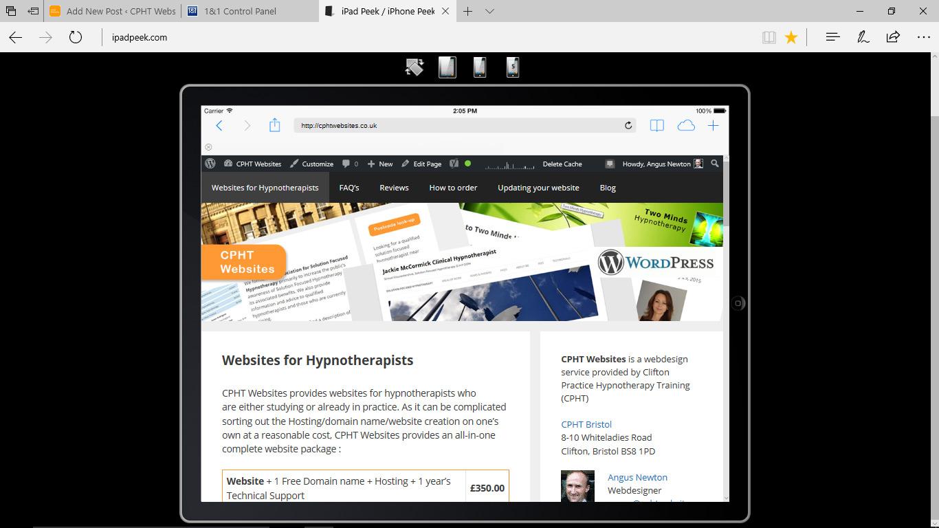 I-Pad Peek website